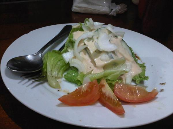 Green salad yang crunchy dan fresh! love it!