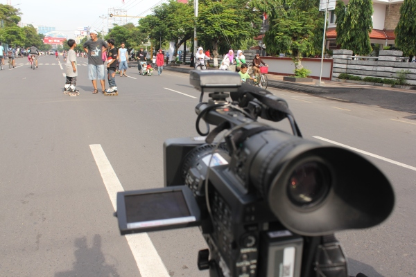 Syuting at Car Free Day