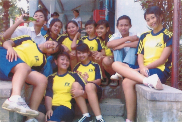 My friends in senior high school.
